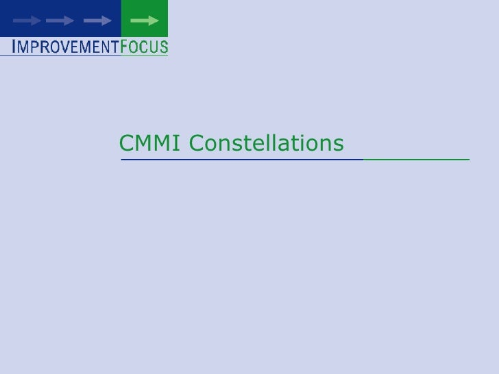 CMMI Constellations<br />