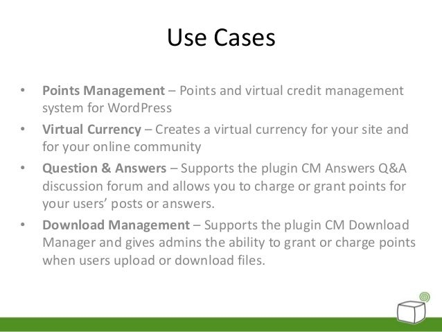 Create Your Own Virtual Currency for WordPress using CM
