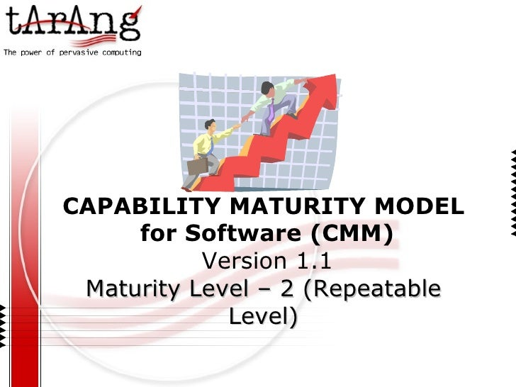CAPABILITY MATURITY MODEL for Software (CMM) Version 1.1 Maturity Level – 2 (Repeatable Level)