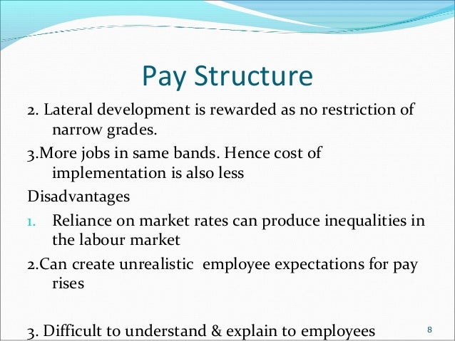 effect of market on pay rates and structures The effects of salary on a company's job retention rate also relates to costs associated with locating, interviewing, hiring and training new employees to replace workers who seek higher wages .