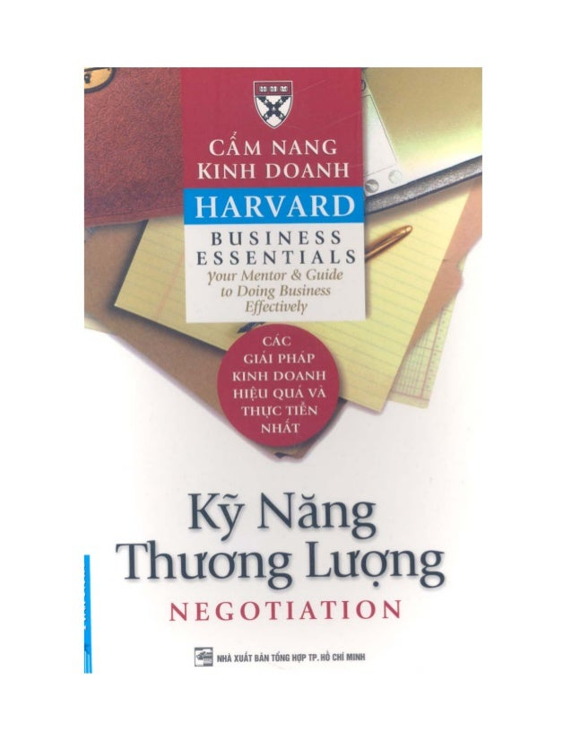 Cẩm nang kinh doanh Harvard -  Kỹ năng thương lượng