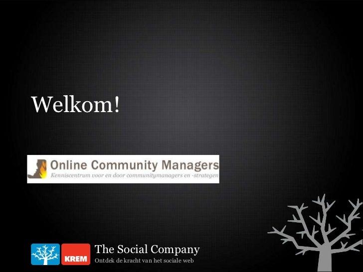 Welkom!<br />