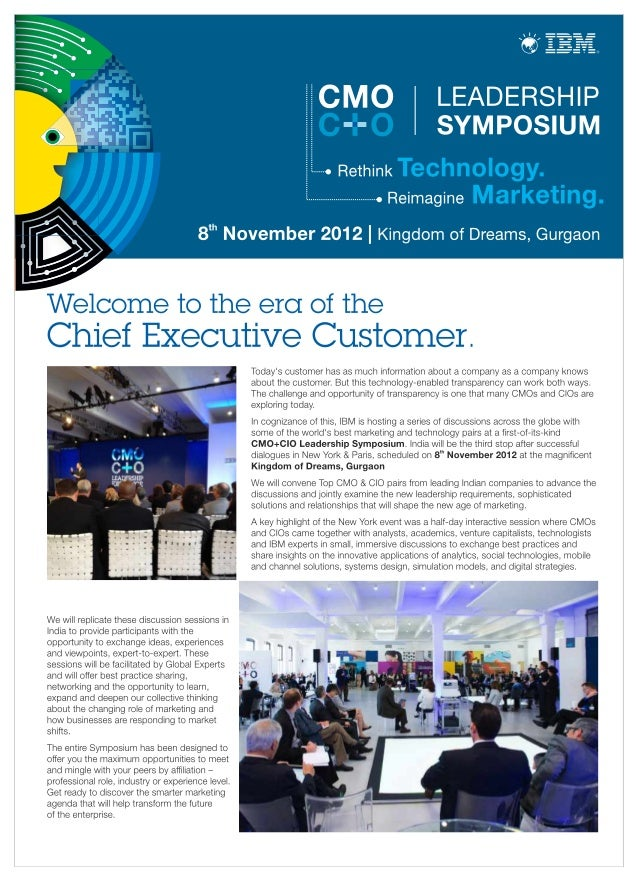 CMO CIO Leadership Symposium Event Brochure