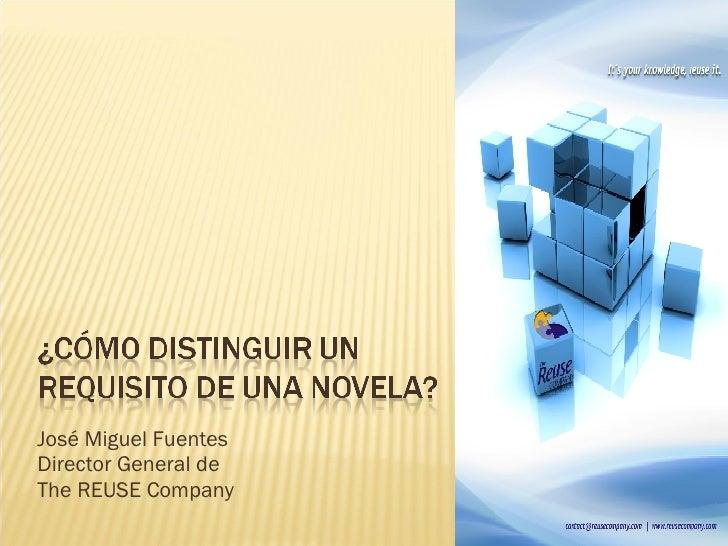 José Miguel Fuentes Director General de  The REUSE Company