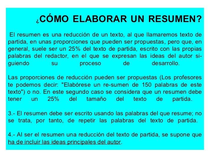 C 243 Mo Elaborar Un Resumen 10 Diapositivas