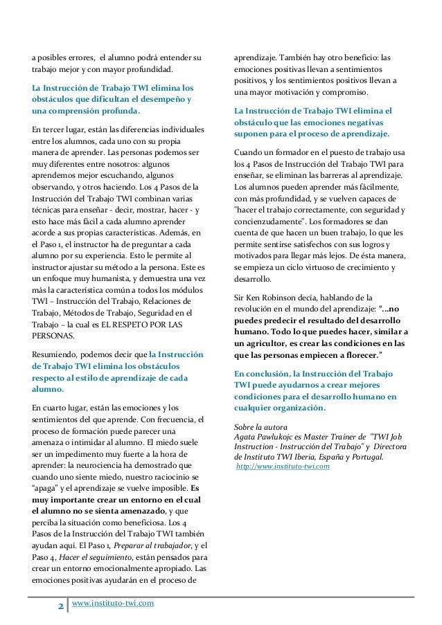 Cómo twi-job-instruction-elimina-las-barreras-al-aprendizaje agata-pawlukojc-2020 Slide 2