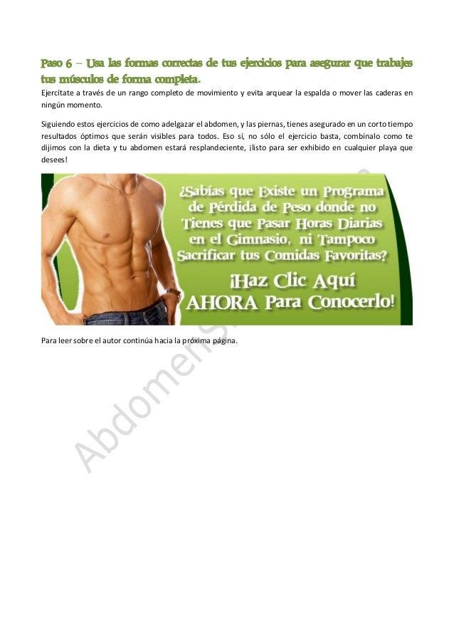 Adelgazar abdomen y caderas de pollo