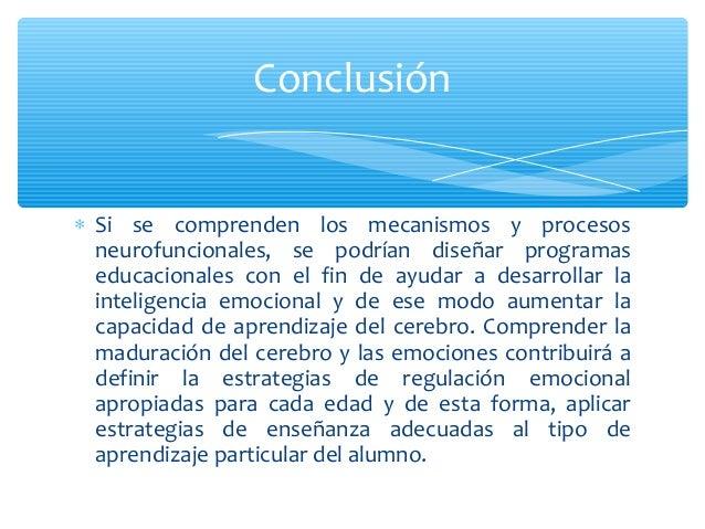 ∗ Si se comprenden los mecanismos y procesosneurofuncionales, se podrían diseñar programaseducacionales con el fin de ayud...