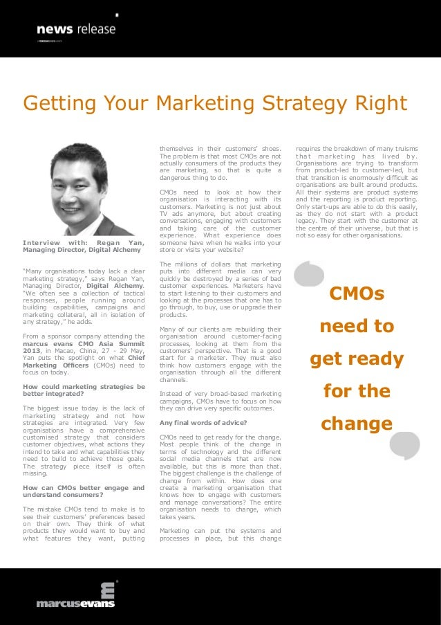Getting Your Marketing Strategy Right                                            themselves in their customers' shoes.    ...