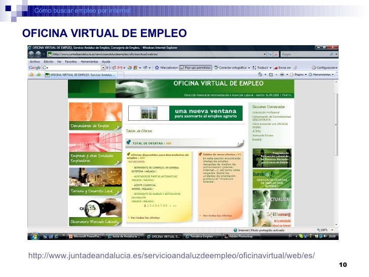 C mo buscar empleo por internet for Oficina virtual junta