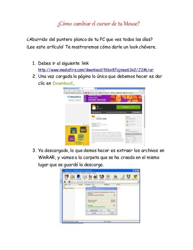 ¿Cómo cambiar el cursor de tu Mouse?  ¿Aburrido del puntero planco de tu PC que ves todos los días?  ¡Lee este artículo! T...