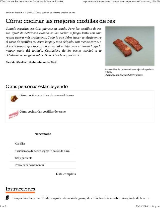 Cómo cocinar las mejores costillas de res | eHow en Español http://www.ehowenespanol.com/cocinar-mejores-costillas-como_16...