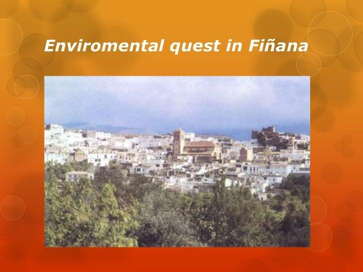 Enviromental quest in Fiñana<br />