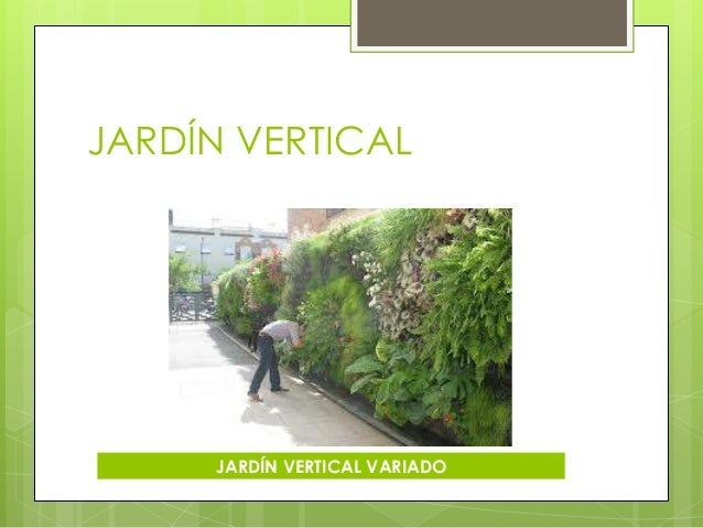 C mo construir un jard n paola karina fagil - Construir jardin vertical ...