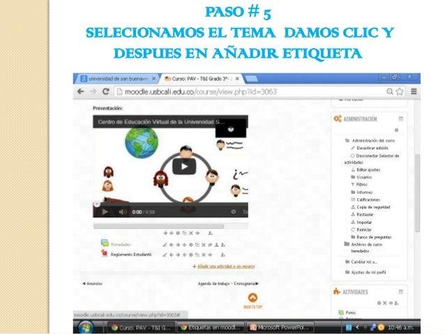 PASO # 5 SELECIONAMOS EL TEMA DAMOS CLIC Y DESPUES EN AÑADIR ETIQUETA