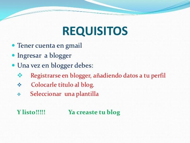 Cómo crear un blog Slide 2