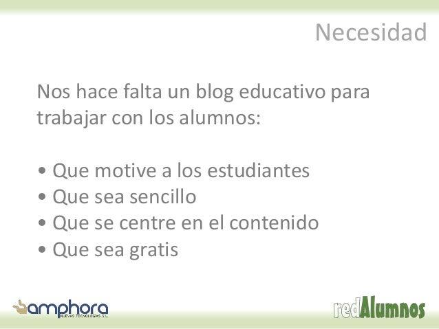 Cómo crear gratis un blog educativo Slide 2