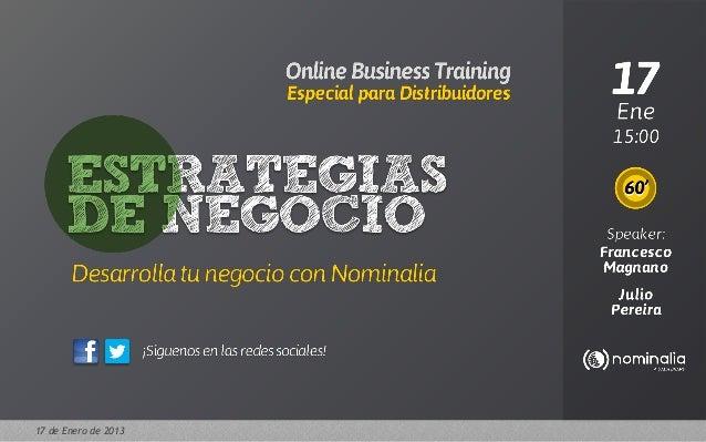 DOMAINS & ADVERTISINGStrategie di vendita per iRivenditori Register.itSpeaker: Francesco Magnano17 de Enero de 2013