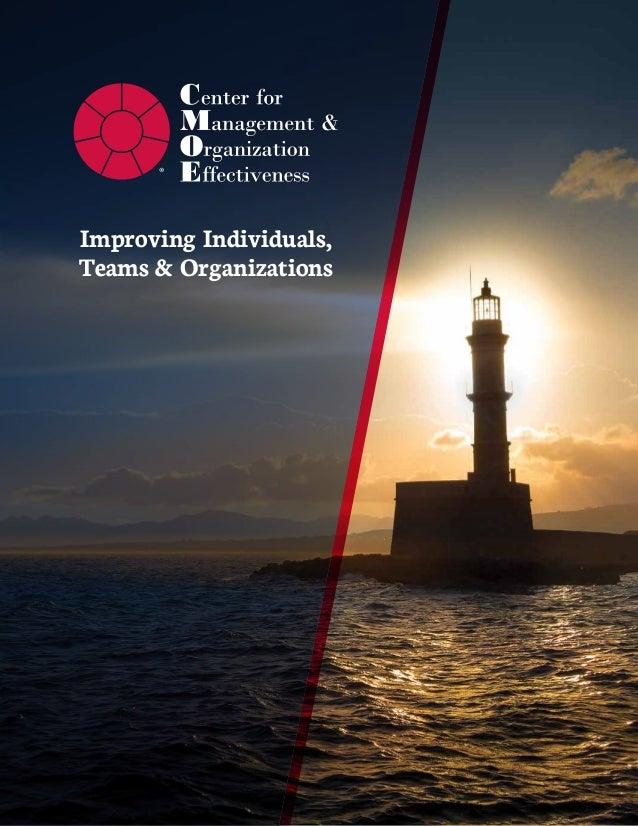 Improving Individuals, Teams & Organizations ®