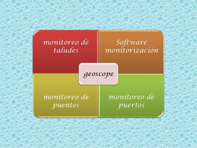 monitoreo de taludes  Software monitorización  geoscope monitoreo de puentes  monitoreo de puertos
