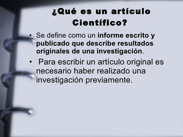Cómo escribir un artículo científico Slide 2