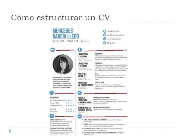 Cómo estructurar un CV