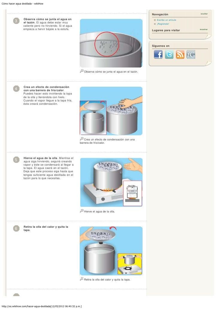 Cómo Hacer Agua Destilada