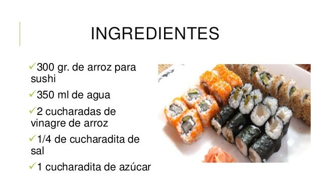 C mo hacer el arroz para sushi for Como hacer arroz para sushi