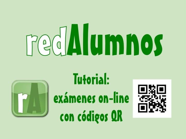 Tutorial:exámenes on-line con códigos QR