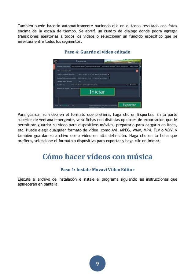 Manual del editor de vídeo Movavi Suite 15