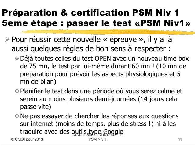 Preparation et certification PSM Niv1