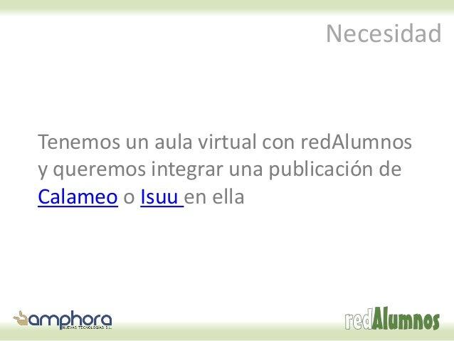 Cómo integrar publicaciones de calameo o isuu en redAlumnos Slide 2