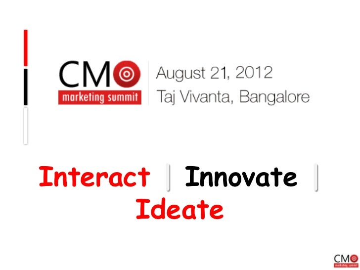 Interact | Innovate |       Ideate