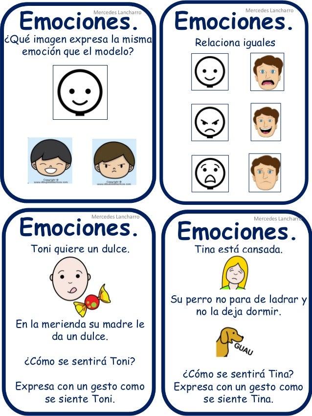 Emociones.  Emociones.  Emociones.  Emociones.  Mercedes Lancharro  ¿Qué imagen expresa la misma emoción que el modelo?  M...