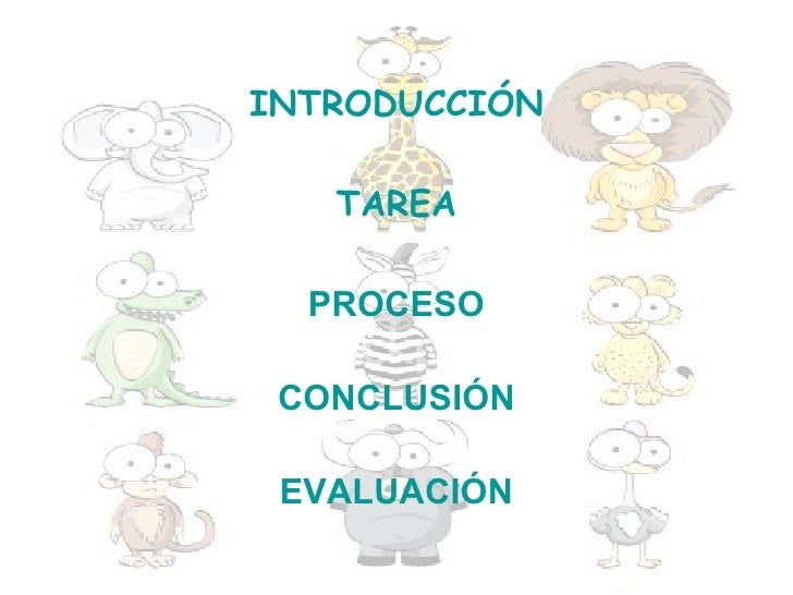 INTRODUCCIÓN   TAREA  PROCESO CONCLUSIÓN EVALUACIÓN