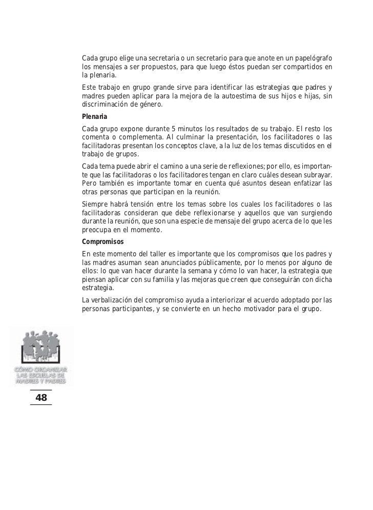 Cómo organizar las escuelas de padres y madres. 74 págs