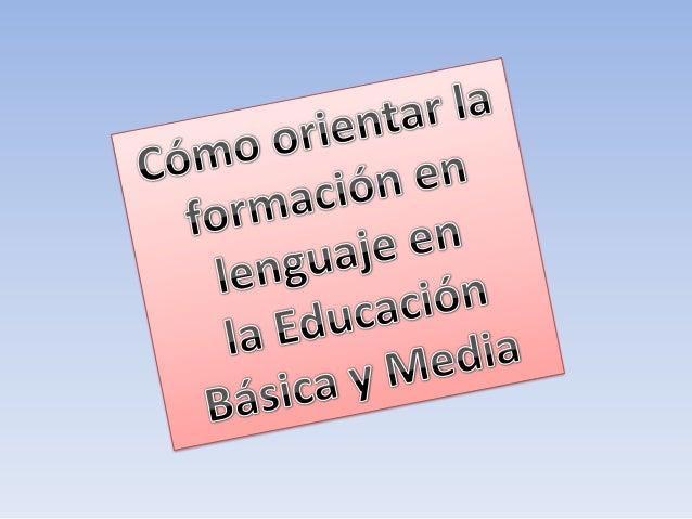 camposfundamentalesen la formaciónen lenguajeLa pedagogíade laliteraturaLa pedagogíade otrossistemassimbólicosLa pedagogía...