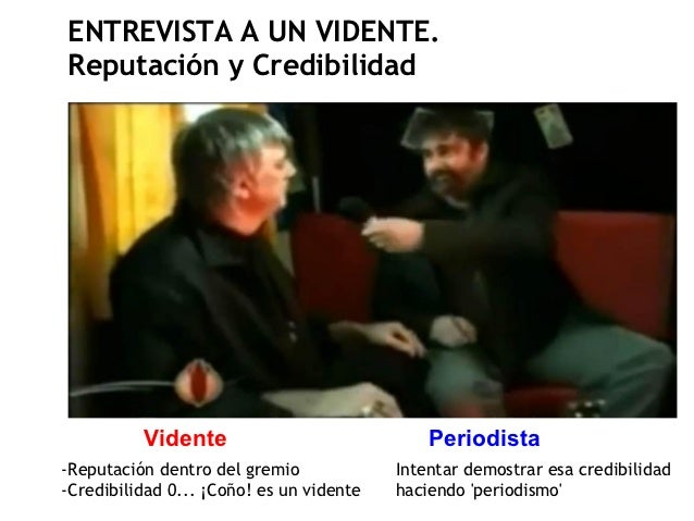 ENTREVISTA A UN VIDENTE.Reputación y Credibilidad          Vidente                             Periodista-Reputación dentr...