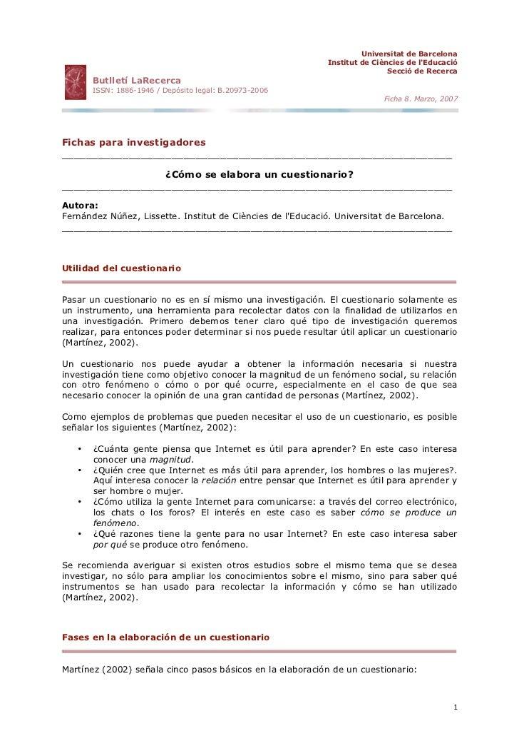 Universitat de Barcelona                                                              Institut de Ciències de l'Educació  ...