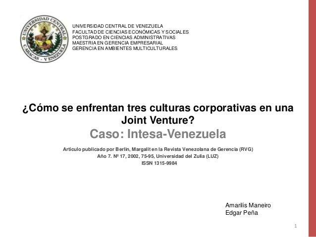 UNIVERSIDAD CENTRAL DE VENEZUELA           FACULTAD DE CIENCIAS ECONÓMICAS Y SOCIALES           POSTGRADO EN CIENCIAS ADMI...