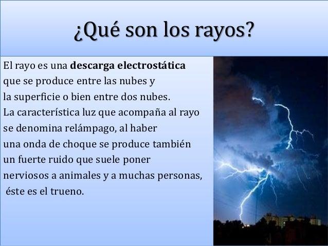 C mo se producen los rayos for Como se cocinan los percebes