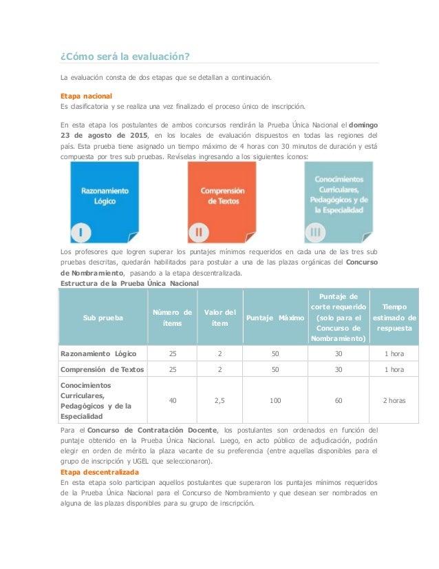 ¿Cómo será la evaluación? La evaluación consta de dos etapas que se detallan a continuación. Etapa nacional Es clasificato...