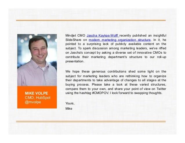 Mindjet CMO Jascha Kaykas-Wolff recently published an insightful SlideShare on modern marketing organization structure. In...