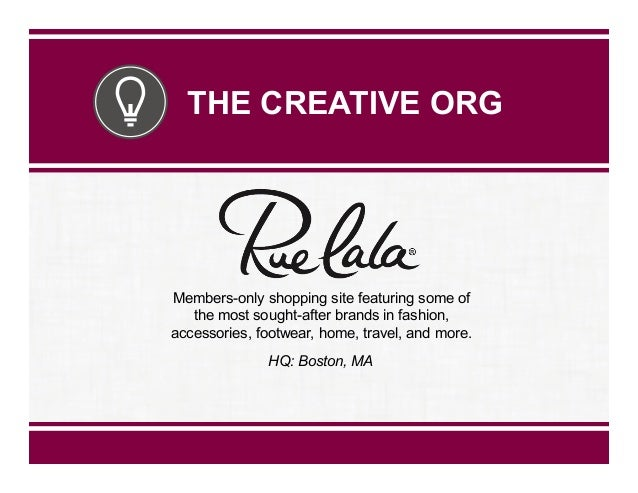 THE CREATIVE ORG  Members-only shopping site featuring some of the most sought-after brands in fashion, accessories, footw...