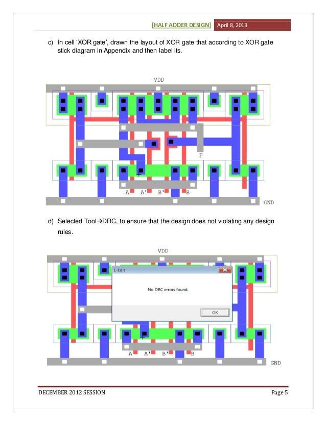Half Adder Layout Design