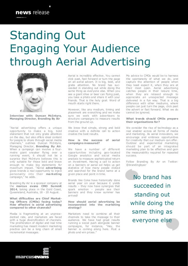 """Interview with: Duncan McIntyre, Managing Director, Branding By Air """"Aerial advertising offers a unique opportunity to mak..."""