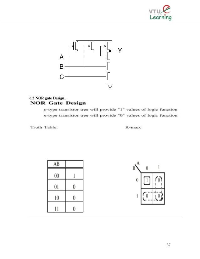 cmos vlsi nalini Truth Table Symbols 37 6 2 nor gate design