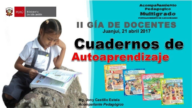 II GÍA DE DOCENTES Juanjui, 21 abril 2017 Mg. Jony Castillo Estela Acompañante Pedagógico