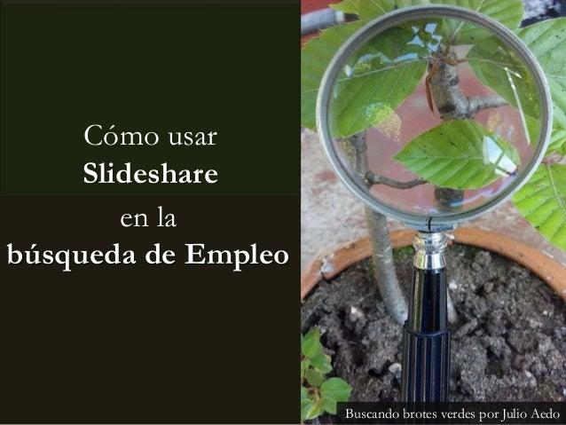 Cómo usar Slideshare Buscando brotes verdes por Julio Aedo en la búsqueda de Empleo