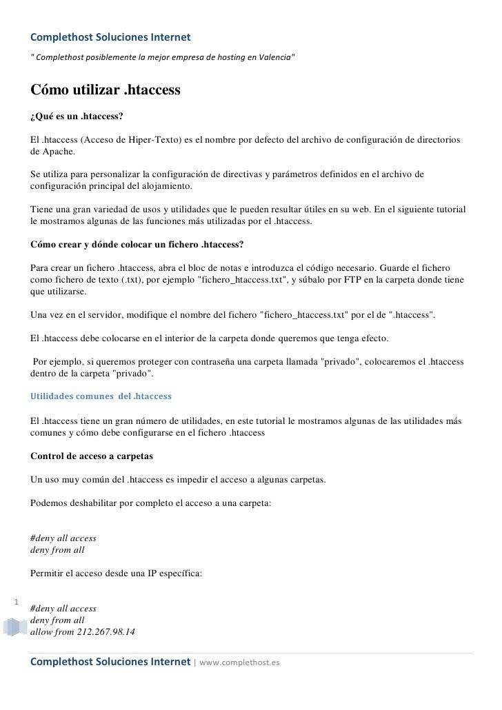 """Complethost Soluciones Internet     """" Complethost posiblemente la mejor empresa de hosting en Valencia""""       Cómo utiliza..."""